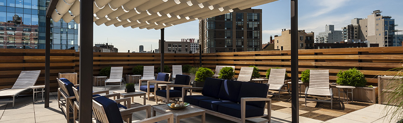 In-Site Interior Design - Banner 01 - 27th Street - New York Interior Design - Rooftop Terrace - Commercial Real Estate Apartment Complex