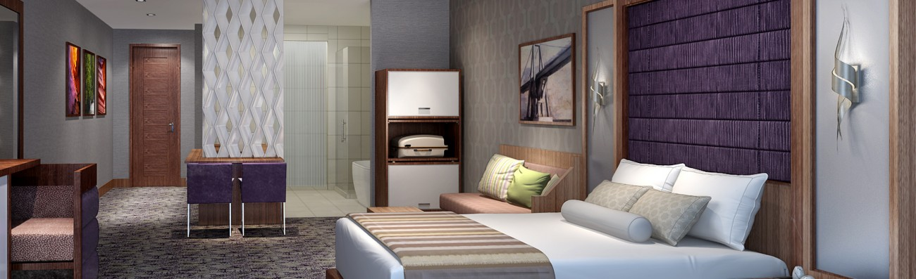 In-Site Interior Design - Banner Hotel Design - Hotel Room - NYC Hotel Developement