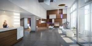 In-Site Interior Design - 01 - HAP Residence - NYC Interior Design - Contemporary Lobby Design - Commercial Real Estate Apartment Complex
